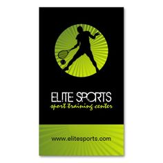 312 best sports coach business cards images on pinterest business modern tennis coach business cards colourmoves