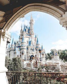 Beautiful view of Cinderella's castle, Walt Disney World, Orlando, Florida Disneyland photography Disney Parks, Mundo Walt Disney, Walt Disney World Orlando, Disney Land Florida, Disneyland Orlando, Florida Disneyworld, Disney World Fotos, Disney World Pictures, Disney Worlds