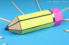 Create this awesome pencil gift box for an end of term present for your kid's favourite teachers!