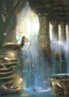 On the Edge of the World ~ Charlotte Bird. Fairy art.