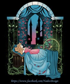 "A Sleeping Beauty t-shirt by Angela Avila, Nados. ""The Sleeping Rose"" features the sleeping beauty herself, Princess Aurora taking a very long nap. Disney Princess Art, Princess Aurora, Disney Fan Art, Disney Love, Disney Princesses, Disney Pixar, World Disney, Disney And Dreamworks, Sleeping Beauty Art"