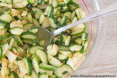 De keuken van Martine: Goud van oud: Pittige komkommersalade