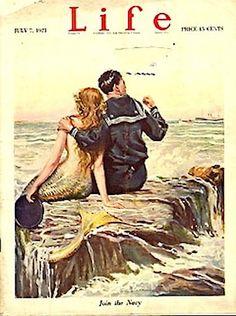 Mermaid & Sailor ~ Life Magazine  July 7 1921