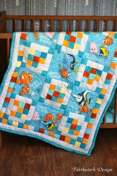 Szilvi foltvarró blogja: Némó és barátai lépésről lépésre Fish Quilt, I Am Happy, Children, Kids, Craft Projects, Scrap, Baby Boy, Quilts, My Favorite Things