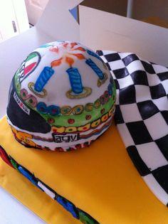 Buttercream Filling, Chocolate Buttercream, Valentino Rossi Helmet, Edible Printing, Vanilla Sponge, Chocolate Sponge, Vr46, Themed Birthday Cakes, Celebration Cakes