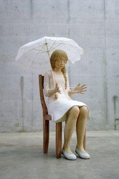 (写真:彫刻作品「影におちる影」灰原愛)の画像 | 奈義町
