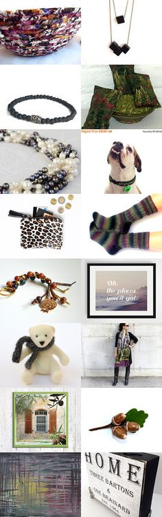Lovely Etsy Treasury, Monday Sundries by Julia by Fibernique on Etsy- Lovely handmade gifts, unique basket. -Pinned with TreasuryPin.com