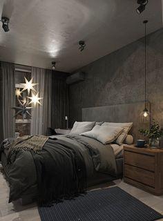 Black Bedroom Design, Bedroom Bed Design, Room Ideas Bedroom, Bedroom Colors, Modern Bedroom, Bedroom Wall, Bedroom Decor, Dream Home Design, Home Interior Design