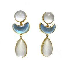 Vaubel Moonstone Earrings