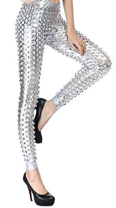 Grazing Women's Punk Rock Style Mermaid Fish Scale Pattern Stretch Hole Leggings (Silver) ** Be sure to check out this helpful article. Punk Rock Fashion, Digital Scale, Mermaid Scales, Rock Style, Women's Leggings, Digital Prints, Cute Outfits, Costumes, Cosplay Ideas