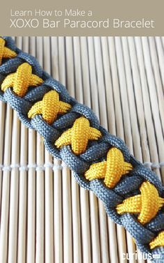 Learn How to Make a XOXO Bar Paracord Bracelet More
