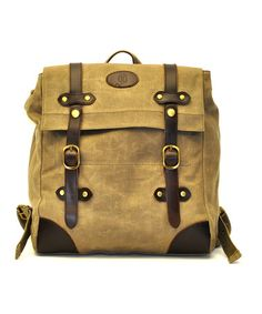 Take a look at this Tan Buckle Backpack by J. Campbell on #zulily today!11-02-13