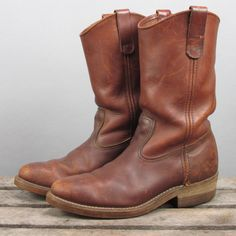 Vintage Red Wing Pull on Leather Boot Made in USA