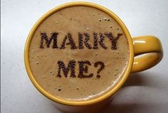 Marry Me Proposal Coffee Art Design // Creative 3D Coffee Latte Art Pictures, Images & Designs