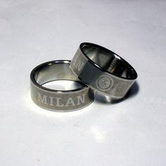 Milano Stainless Steel Ring.25 Best Football Team Stainless Steel Ring 2 50usd Pcs Images