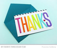 Big Thanks Die-namics, Gift Card Envelope Die-namics - Francine Vuillème  #mftstamps