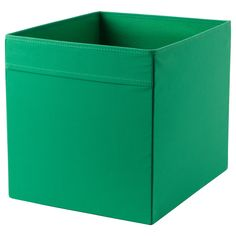 IKEA - DRÖNA, Box, green, , Easy to pull out and lift as the box has handles.Perfect for everything from newspapers to clothes.When the box is not in use and you want to save space, simply open the zipper in the bottom and fold it flat.