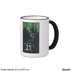 'Forest Stream' Ringer Coffee Mug