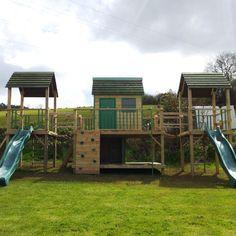 Wooden climbing frames   garden play equipment   Custom playhouses   climbing frames for children