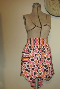 pink brown and orange. Reverses to same as waistband fabric.