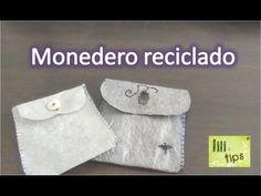 monedero reciclado / bolsas fundidas