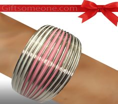 Rs.760.00 / $13.68 Shipping Charges 	Free Shipping To India(IND)	 Product Details 	 A contemporary elegant bangle jewelry/ jewellery in pink and white color. http://www.giftsomeone.com/product_info.php?products_id=3656