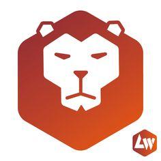 #lion logo, by Leon Westgate