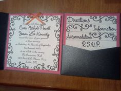 First Invitation Mock up :) :  wedding ceremony diy inspiration invitations orange pink Invite