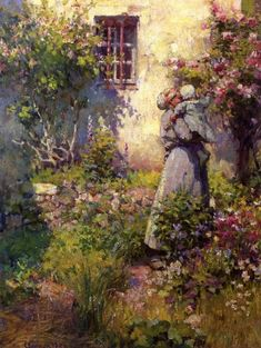 Peasant's Garden - Robert Vonnoh (1858 – 1933)