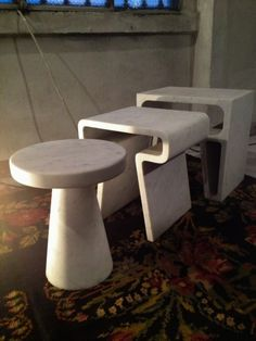 Marble tables created by Jim Hannon Tan
