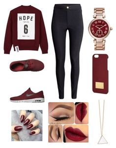 """"" by fashion-1407 ❤ liked on Polyvore featuring Studio Concrete, H&M, NIKE and Michael Kors"
