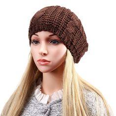 9.77$  Buy now - http://viqxc.justgood.pw/vig/item.php?t=dlvwe419323 - Women Ladies Knitted Crochet Beanie Hat Winter Warm Slouch Baggy Beret Cap 9.77$