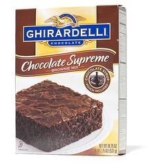 2008 Boxed Brownie Mix WINNER (also recommended Barefoot Contessa Outrageous Brownie Mix)