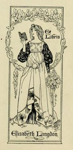 Bookplate of Elizabeth Langdon by William Edgar Fisher by CharmaineZoe, via Flickr