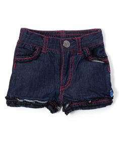 Look at this Denim Ruffle Shorts - Infant, Toddler & Girls on #zulily today!