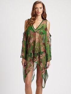 Geometric shift dress Party blouse Lilac tunic Peach silk Hand painted batik on natural silk Labyrinth \u2013 Silk tunic Women loose tunic