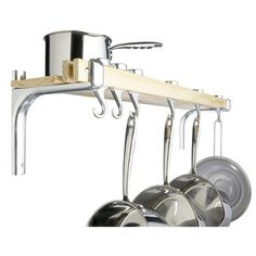 <strong>Kitchen Craft</strong> Shelf Style Wooden Pot Rack