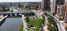 West 8 Urban Design & Landscape Architecture / projects / 馬德里曼薩納雷斯河岸更新景觀工程(Madrid Rio)