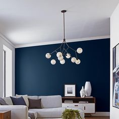 Tell me what do you think about this living room layout! Really marvelous living room idea, don't you think? Take a look at the board and let you inspiring! See more clicking on the image. Navy Living Rooms, Blue Living Room Decor, Accent Walls In Living Room, Living Room Colors, Living Room Paint, Home Living Room, Living Room Designs, Blue Feature Wall Living Room, Blue Bedroom Walls