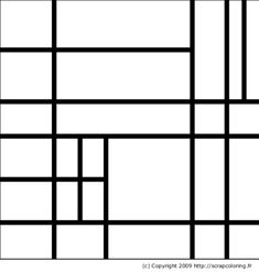 Piet Mondrian coloring pages. These Piet Mondrian pictures are online coloring pages that can be colored with color gradients and patterns. Printable coloring pages are also included if you prefer to color with paper and crayons. Composition Art, Ecole Art, Keith Haring, Preschool Art, Art Classroom, Colouring Pages, Coloring Book, Art Plastique, Art Activities