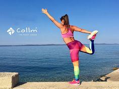 Dámske športové legíny na crossfit, workout, beh a iné športy. Výborná kvalita, moderný dizajn, reflexné bezpečnostné prvky. Buďte originálna v legínach COLLM. Crossfit, Fitness, Running, Workout, Sports, Hs Sports, Keep Running, Work Out, Why I Run