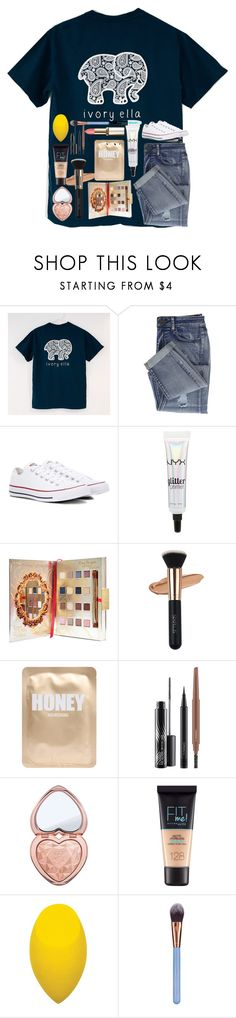 """Untitled #3709"" by laurenatria11 ❤ liked on Polyvore featuring Ivory Ella, Converse, NYX, Disney, Lapcos, MAC Cosmetics, Too Faced Cosmetics, Maybelline, Luxie and L'Oréal Paris"