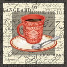 French Cafe II Art Print