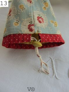TUTORIAL for a small bag-this is the drawstring/handle.