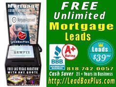 <b>Mortgage Lead Generation, http://LeadBoxPlus.com , info@leadBoxPlus.com  , (818) 742-0057