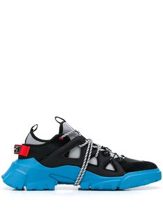 Mcq By Alexander Mcqueen Orbyt Suede, Leather And Neoprene Sneakers In Black Hiking Fashion, Mcq Alexander Mcqueen, Designer Shoes, Snug, Hiking Boots, Shoes Sneakers, Women Wear, Footwear, Swallow