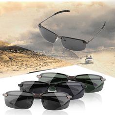 Men HD Good Polarized Sunglasses Outdoor Sports Eyewear Driving Sunglasses Aluminum Magnesium Alloy Frame Eyewear Accessories
