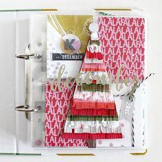 Beshka Kueser for Gossamer Blue Christmas Mini Albums, Christmas Journal, Christmas Scrapbook, Christmas Minis, Christmas Books, All Things Christmas, Christmas Layout, Christmas Countdown, Christmas Ideas