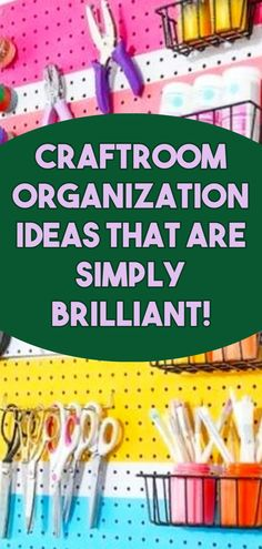 Craftroom Organization Ideas That Are Simply BRILLIANT! Home Organization Hacks, Storage Hacks, Clutter Solutions, Creative Storage, Clever Diy, Declutter, Projects To Try, Education, Crafts
