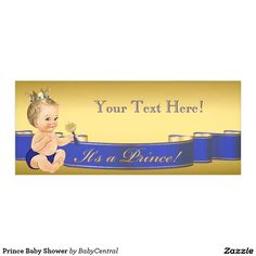Prince Baby Shower Banner